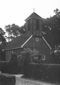Alte Kapelle (1989 abgebrannt), Ansicht von Nordwesten, um 1954