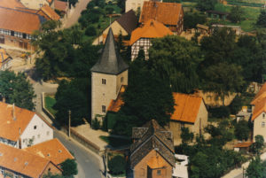 Kirche, Ansicht von Südosten, 1988