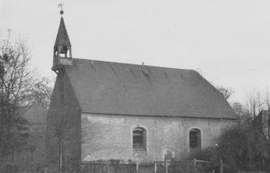 Kirche, Ansicht von Südwesten, um 1951