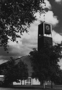 Kirche, Ansicht von Nordwesten, 1980