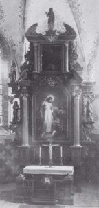 Altaraufsatz mit dem Gemälde des sinkenden Petrus, vor 1915