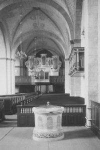 Kirche, Blick zur Orgel, Foto: Ernst Witt, Hannover, Oktober 1956