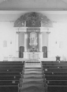 Kirche, Blick zum Altar, Foto: Ernst Witt, Hannover, März 1961
