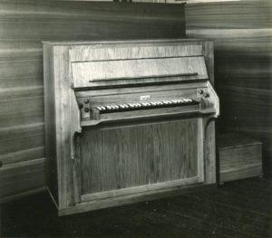 Orgel, Ansicht des Spieltischs, nach 1963