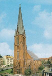 Kirche, Ansicht von Südwesten, Postkarte
