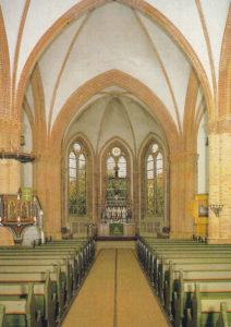 Kirche, Blick zum Altar, Postkarte
