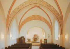 Kirche, Blick zum Altar, um 1975, Fotograf: H. Engler, Bremerhaven