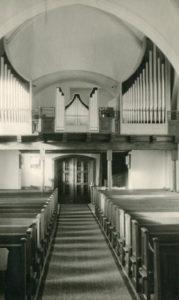 Kirche, Blick zur Orgel, nach 1957