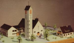 dritte Kirche, Modell, vor 1950
