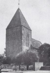 Kirche, Ansicht von Südwesten, 1934 oder 1938