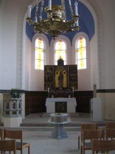 Kirche, Blick zum Altar, Foto: Ernst Günther Behn, Klein Gußborn, 2009 oder 2010