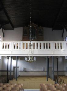 Kirche, Blick zur Orgel, Foto: Ernst Günther Behn, Klein Gußborn, 2009 oder 2010