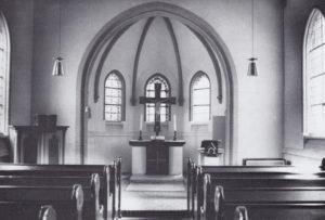 Kapelle, Blick zum Altar, 1971