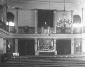 Kirche, Blick zum Altar, 1931