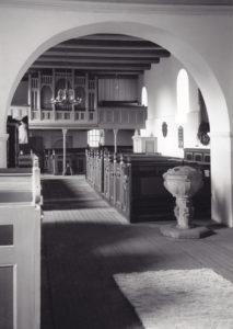 Kirche, Blick zur Orgel, Ernst Witt, Hannover, vor 1971