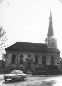 Kirche, Ansicht von Nordosten, um 1960