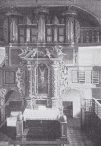 Altaraufsatz, Orgel, vor 1907