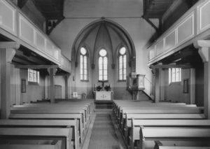 Kirche, Blick zum Altar, 1953