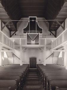 Kirche, Blick zur Orgel, nach 1953, vor 1972