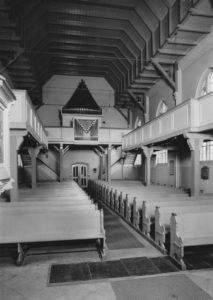 Kirche, Blick zur Orgel, nach 1953