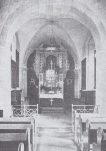 Kirche, Blick zum Kanzelaltar, 1935
