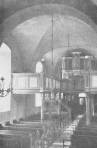 Kirche, Blick zur Orgel, 1935