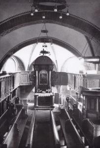 Kirche, Blick zum Altar, vor 1956