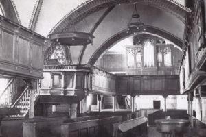 Kirche, Blick zur Orgel, vor 1956