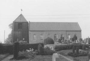 Kirche, Ansicht von Süden, um 1964