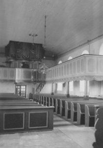 Kirche, Blick zur Orgel, Foto: Ernst Witt, Hannover, Juni 1959