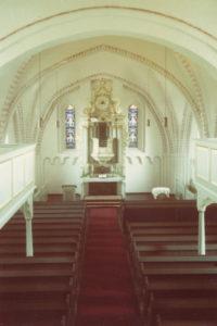 Kirche, Blick zum Altar, Foto: Ernst Witt, Hannover, Juli 1964