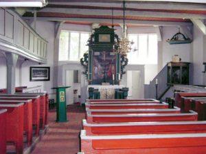Kirche, Blick zum Altar, Foto: Ernst Günther Behn, Klein Gußborn, 2009/ 2010