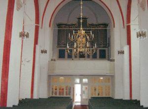 Kirche, Blick zur Orgel, Foto: Ernst Günther Behn, Klein Gußborn, 2009/ 2010