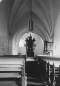 Kirche, Blick zum Altar, Foto: Ernst Witt, Hannover, 1955