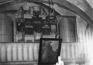 Kirche, Blick zur Orgel, Foto: Ernst Witt, Hannover, Juli 1955