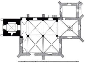 Kirche, Grundriss, 1905, H. Siebern