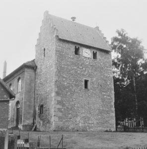 Kirche, Ansicht von Nordwesten, Teilansicht, 1962