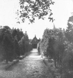 Friedhofskapelle, Ansicht von Westen, 1948