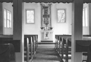 Kapelle, Blick zum Altar, 1954