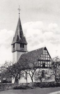 Kirche, Ansicht von Südosten, Foto: Ernst Witt, Hannover, 1958