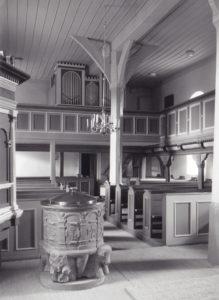 Kirche, Blick zur Orgel, Foto: Ernst Witt, Hannover, vor 1971