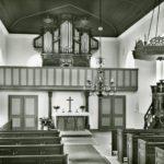 Kirche, Blick zum Altar und zur Orgel, nach 1965