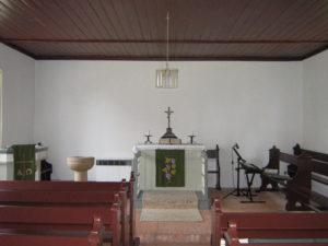 Kapelle, Blick zum Altar, Foto: Ernst Günther Behn, Klein Gußborn, 2009/ 2010