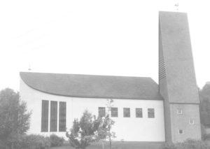 Kirche, Ansicht von Nordosten, um 1970, P. Greve, Jöllenbeck (?)