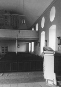Kirche, Blick zur Orgel, Foto: Ernst-Witt, Hannover, 1954