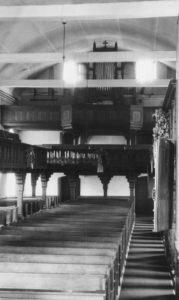 Kirche, Blick zur Orgel, vor 1964