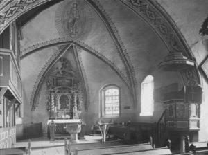 Kirche, Blick in den Chorraum, vor 1961