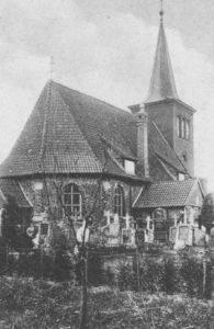 Kirche, Ansicht von Nordosten, Postkarte (Ausschnitt)