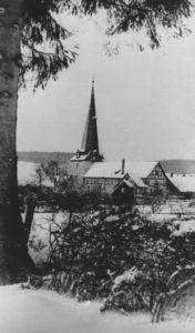 Kirche, Ansicht von Südosten, 1950