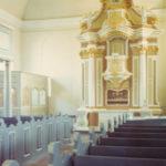 neue Kirche, Blick zum Altar, Foto: Ernst Witt, Hannover, Mai 1960